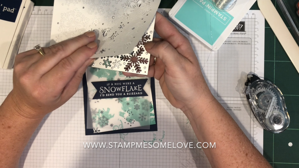 Beautiful Blizzard Stamp Set Christmas Card