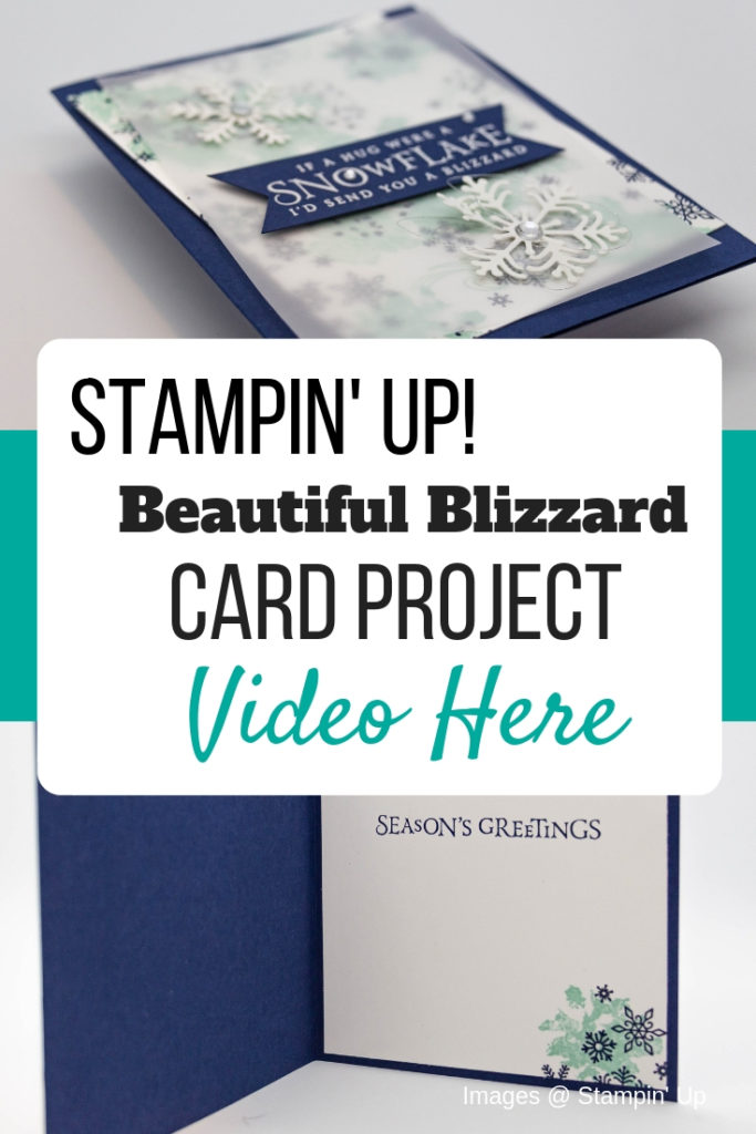 Create a special Christmas card with Stampin' Up! Beautiful Blizzard Stamp Set. Get all of the dimensions for this card. card tutorial | beautiful blizzard stampin up cards | beautiful blizzard su | beautiful blizzard bundle | christmas cards | christmas cards handmade | christmas cards dyi | snowflake cards | snowflake cards handmade | snowflake cards stampin up snow flake | #stampmesomelove #cardtutorial #christmascard